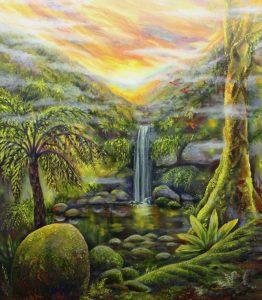 'Curtis Falls Fantasy' - oil