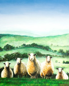 'Landscape with Sheep'